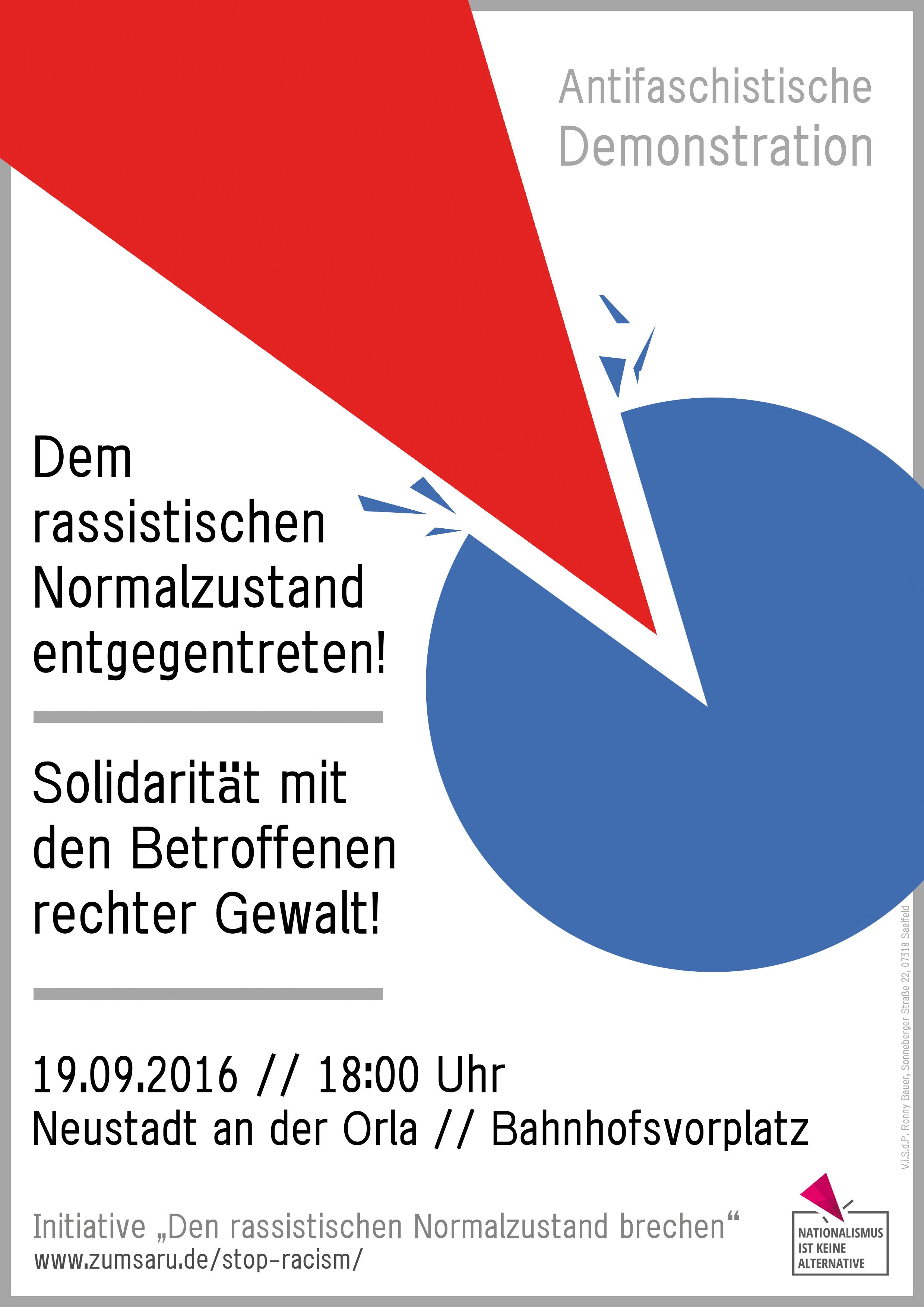 Demo Neustadt Orla 2016