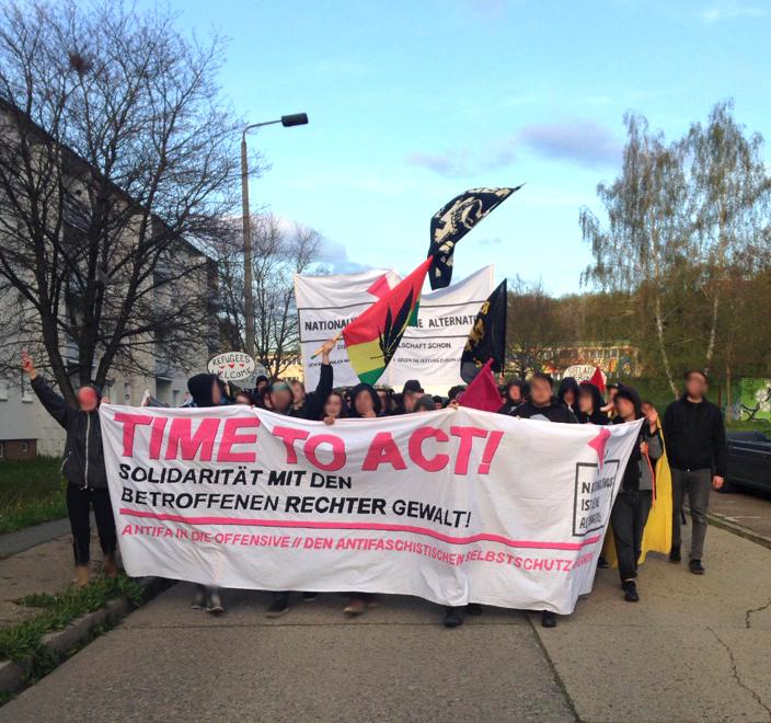 Antifa Demo Saalfeld Gorndorf