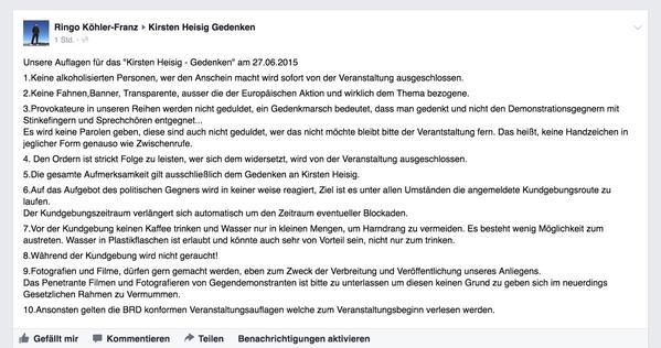 Ringo Köhler auf Facebook