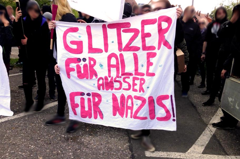 Antifa Demo Saalfeld Gorndorf 209.04.2016